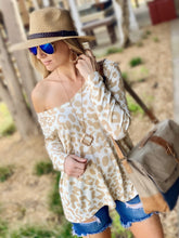 Load image into Gallery viewer, FEEL THE FUN LEOPARD PRINT  TOP-TAUPE - Infinity Raine