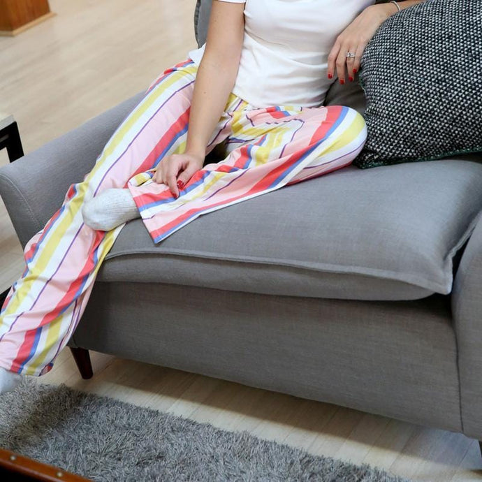 HELLO MELLO SWEET ESCAPE PJ LOUNGE PANTS-PINK STRIPED - Infinity Raine