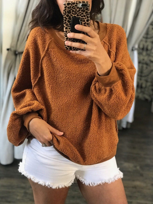 WEEKEND PLANS PULLOVER SWEATER-CAMEL - Infinity Raine