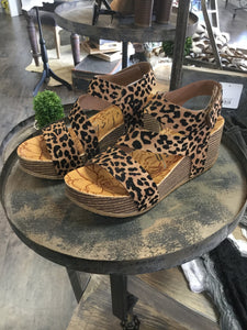 KEEP IT GOING LEOPARD WEDGE SANDALS - Infinity Raine