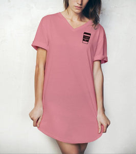 HELLO MELLO SLEEP SHIRT-I NEED COFFEE-PINK - Infinity Raine