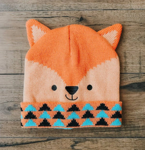 CRITTER COLLECTION KID'S KNIT HAT-FOX - Infinity Raine