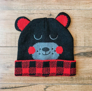 CRITTER COLLECTION KID'S KNIT HAT-BEAR - Infinity Raine