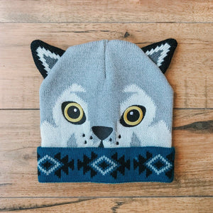 CRITTER COLLECTION KID'S KNIT HAT-WOLF - Infinity Raine
