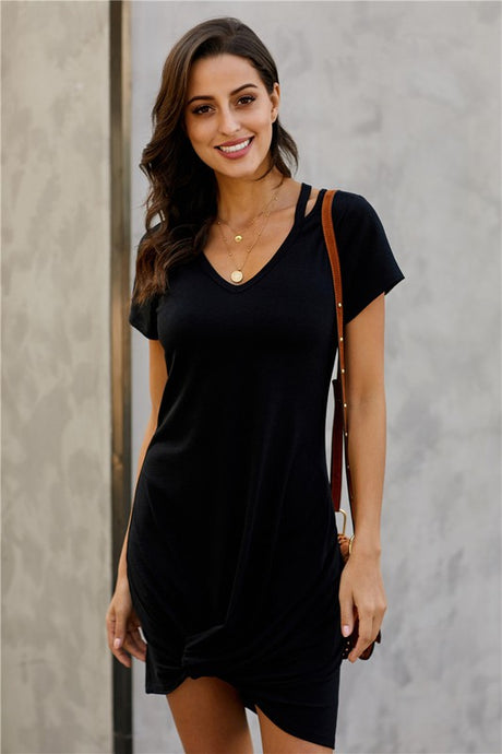 EFFORTLESSLY EASY DRESS-BLACK - Infinity Raine