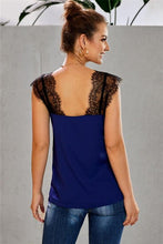 Load image into Gallery viewer, STAY WITH ME LACE CAMI TOP-BLUE - Infinity Raine