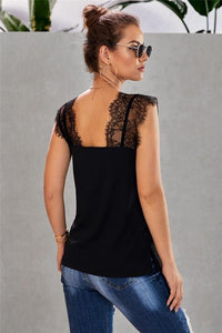 STAY WITH ME LACE CAMI TOP-BLACK - Infinity Raine