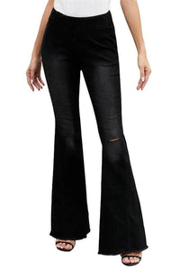 ON THE LOOKOUT FLARE JEGGING-BLACK - Infinity Raine