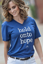Load image into Gallery viewer, HOLD ONTO HOPE CREW NECK TEE-NAVY - Infinity Raine