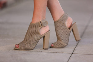 Hit The Town Booties-Taupe - Infinity Raine