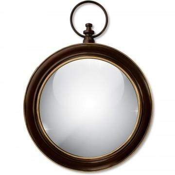 ANTIQUED BRONZE STOPWATCH STYLE WALL MIRROR - Infinity Raine