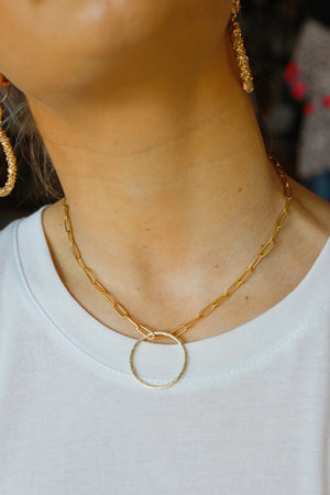 Dreams Come True Chain link Necklace-Gold - Infinity Raine