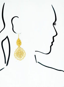LIVING FASHIONABLY FILIGREE EARRINGS-GOLD - Infinity Raine