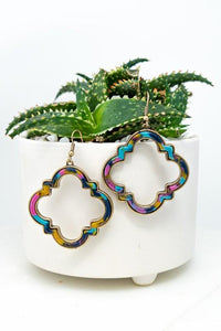 CHIC CHOICES FLORAL TORTOISE EARRINGS - Infinity Raine