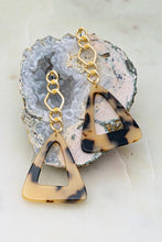 Load image into Gallery viewer, LOOKING SHARP TORTOISE LEOPARD TRIANGLE EARRINGS-GOLD/TORTOISE - Infinity Raine