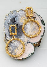 Load image into Gallery viewer, BIG PLANS TEXTURED CIRCLE EARRINGS-GOLD - Infinity Raine