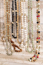 Load image into Gallery viewer, JUST MY STYLE WOOD/METAL BEAD ACCENT LONG NECKLACE-LIGHT MULTI - Infinity Raine
