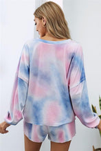 Load image into Gallery viewer, YOU GOT THIS TIE DYE SWEATSHIRT AND SHORTS SET-BLUE - Infinity Raine