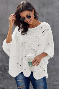 WAITING FOR WINTER SWEATER- WHITE - Infinity Raine