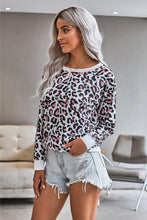 Load image into Gallery viewer, FIND YOUR WAY LEOPARD SWEATSHIRT- WHITE - Infinity Raine