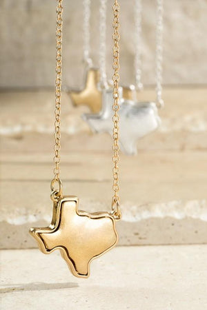 SHOW IT OFF TEXAS PENDANT NECKLACE-GOLD - Infinity Raine