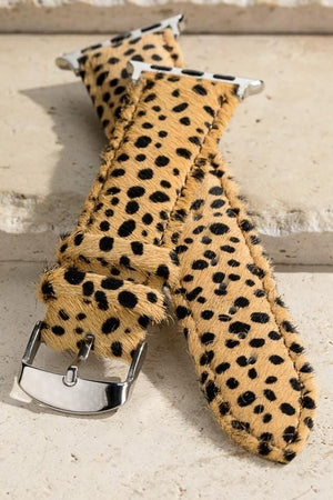 ROCKIN' CHEETAH FOR LIFE APPLE WATCH BAND-SAND - Infinity Raine