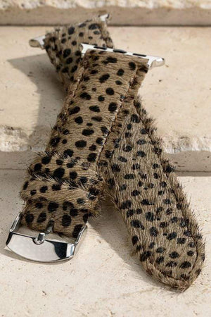 ROCKIN' CHEETAH FOR LIFE APPLE WATCH BAND-ASH BROWN - Infinity Raine