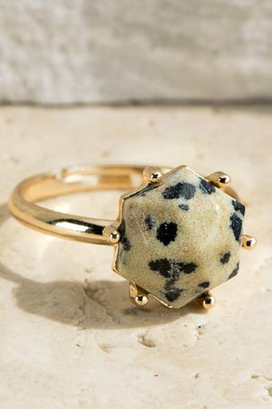 TREASURE JEWELS ADJUSTABLE RING-DALMATIAN - Infinity Raine