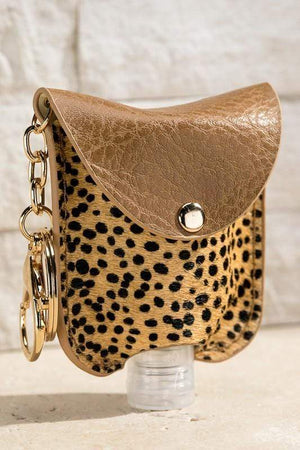 CUTE AND CLEAN HAND SANITIZER KEY CHAIN HOLDER-CHEETAH - Infinity Raine