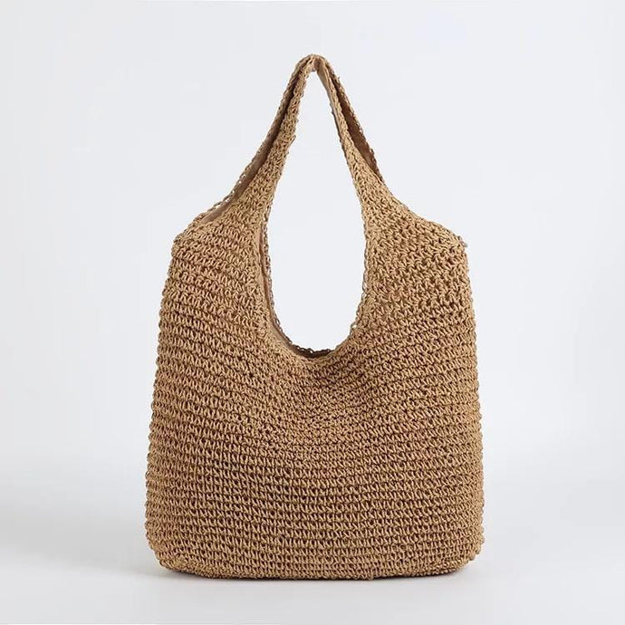 KEEP IT LOW KEY RATTAN HOBO BAG-DARK KHAKI - Infinity Raine