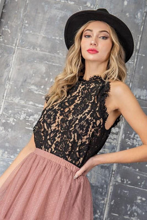 GIRLS NIGHT OUT LACE CAMI-BLACK - Infinity Raine