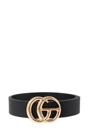 Got It All Classic Faux Leather Belt-Black - Infinity Raine