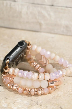 Drama In The Details Apple Watch Bracelet-Rose Quartz - Infinity Raine
