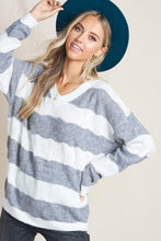 Load image into Gallery viewer, ON THE LOOK OUT SOFT KNIT SWEATER- GREY - Infinity Raine