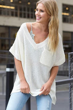 Load image into Gallery viewer, AT ALL HOURS LOOSE FIT SWEATER TUNIC-IVORY - Infinity Raine