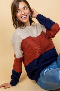 IS FALL HERE YET KNIT SWEATER- MUTLI - Infinity Raine
