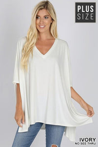 THE FOREVER T-SHIRT PONCHO-IVORY - Infinity Raine