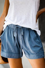 Load image into Gallery viewer, HERE TO RELAX DRAWSTRING SHORTS- BLUE - Infinity Raine