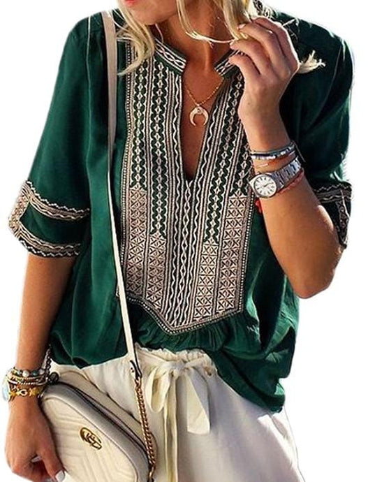 ANYWHERE WITH YOU TUNIC BLOUSE- EMERALD GREEN - Infinity Raine
