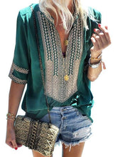 Load image into Gallery viewer, ANYWHERE WITH YOU TUNIC BLOUSE- EMERALD GREEN - Infinity Raine