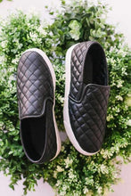 Load image into Gallery viewer, THIS IS IT QUILTED SLIP ON SNEAKERS-BLACK - Infinity Raine