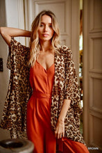 Load image into Gallery viewer, ALL THAT ROARS-LEOPARD PRINT DUSTER KIMONO - Infinity Raine