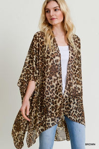 ALL THAT ROARS-LEOPARD PRINT DUSTER KIMONO - Infinity Raine
