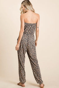 CAN'T HOLD ME BACK JUMPSUIT- LEOPARD - Infinity Raine