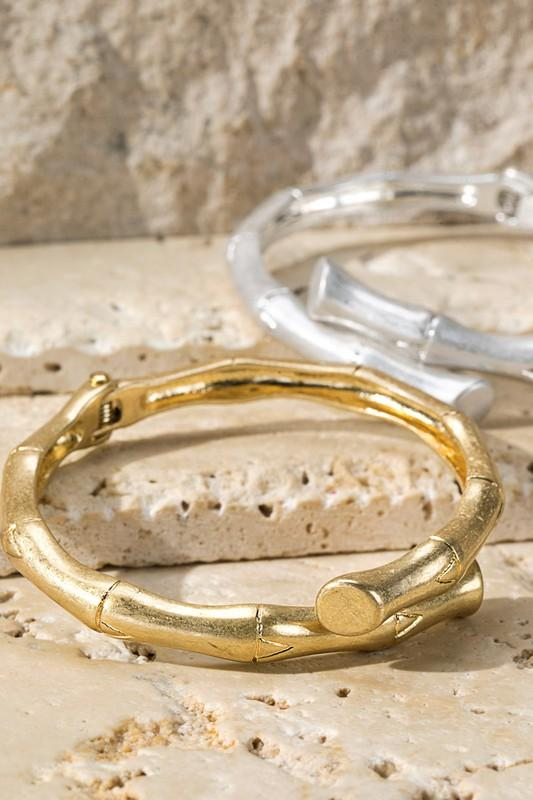 ON THE SCENE BAMBOO BRACELET-GOLD/SILVER - Infinity Raine