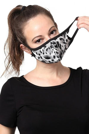 KEEP IT COVERED FACE MASK -GREY LEOPARD - Infinity Raine