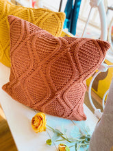 Load image into Gallery viewer, CINNAMON CABLE KNIT THROW PILLOW - Infinity Raine