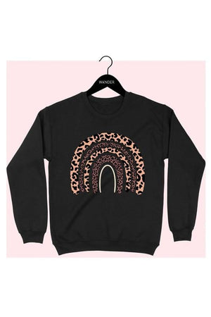 OVER THE RAINBOW LEOPARD GRAPHIC SWEATSHIRT - Infinity Raine
