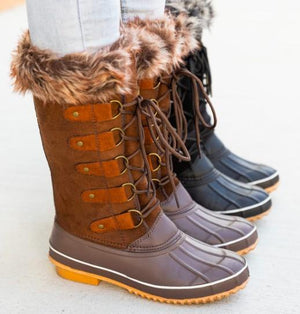 DASHING THROUGH THE SNOW-BROWN SNOWBOOTS - Infinity Raine