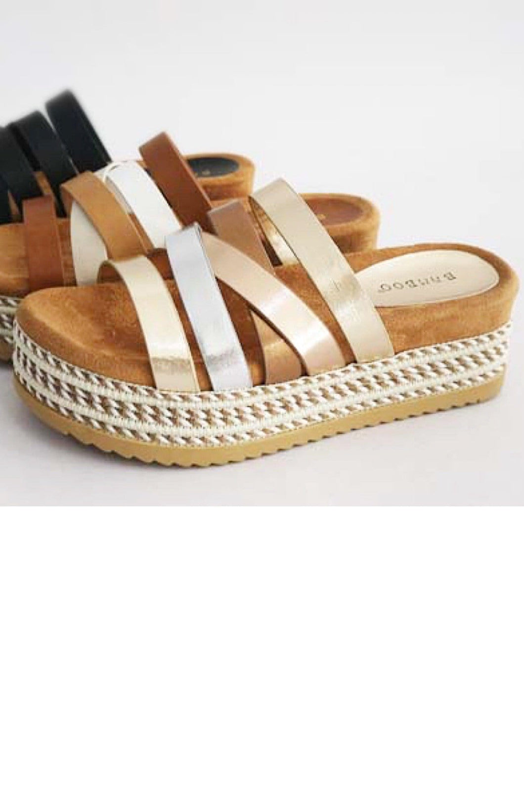 UNFORGETTABLE FUN SLIP ON PLATFORM SANDAL-MULTI - Infinity Raine